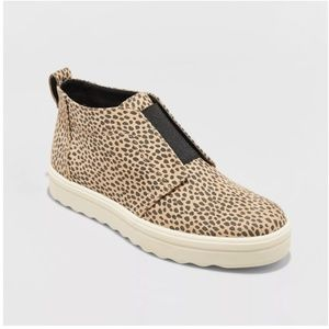Lilian Animal Print Microsuede Slip On Sneakers